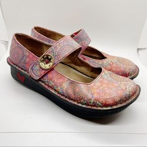 Alegria Paloma Red Bloom Women Clogs Size 8/38
